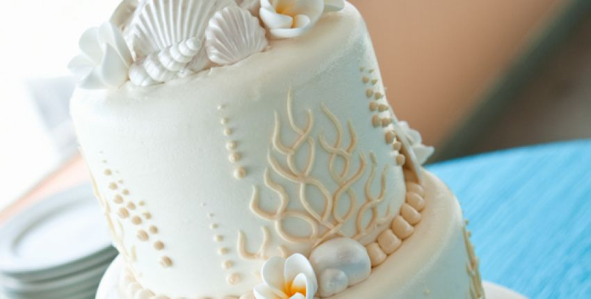 Wedding Cake sur le thème «coquillages & crustacés» // Adulte | Nice