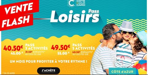 MÉGA BON PLAN ! Vente flash Côte d'Azur CARD !!!