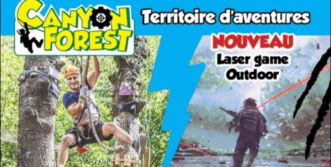 NOUVEAU Laser Game outdoor au Canyon Forest !